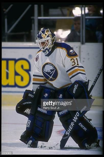 feb-1993-goaltender-grant-fuhr-of-the-buffalo-sabres-looks-on-during-picture-id223063  (408×612) | Buffalo hockey, Buffalo sabres hockey, Buffalo sabres