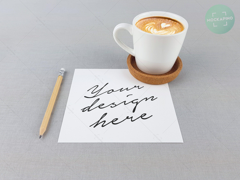 Download Free Mug Mockup Coffee Cup Square Paper