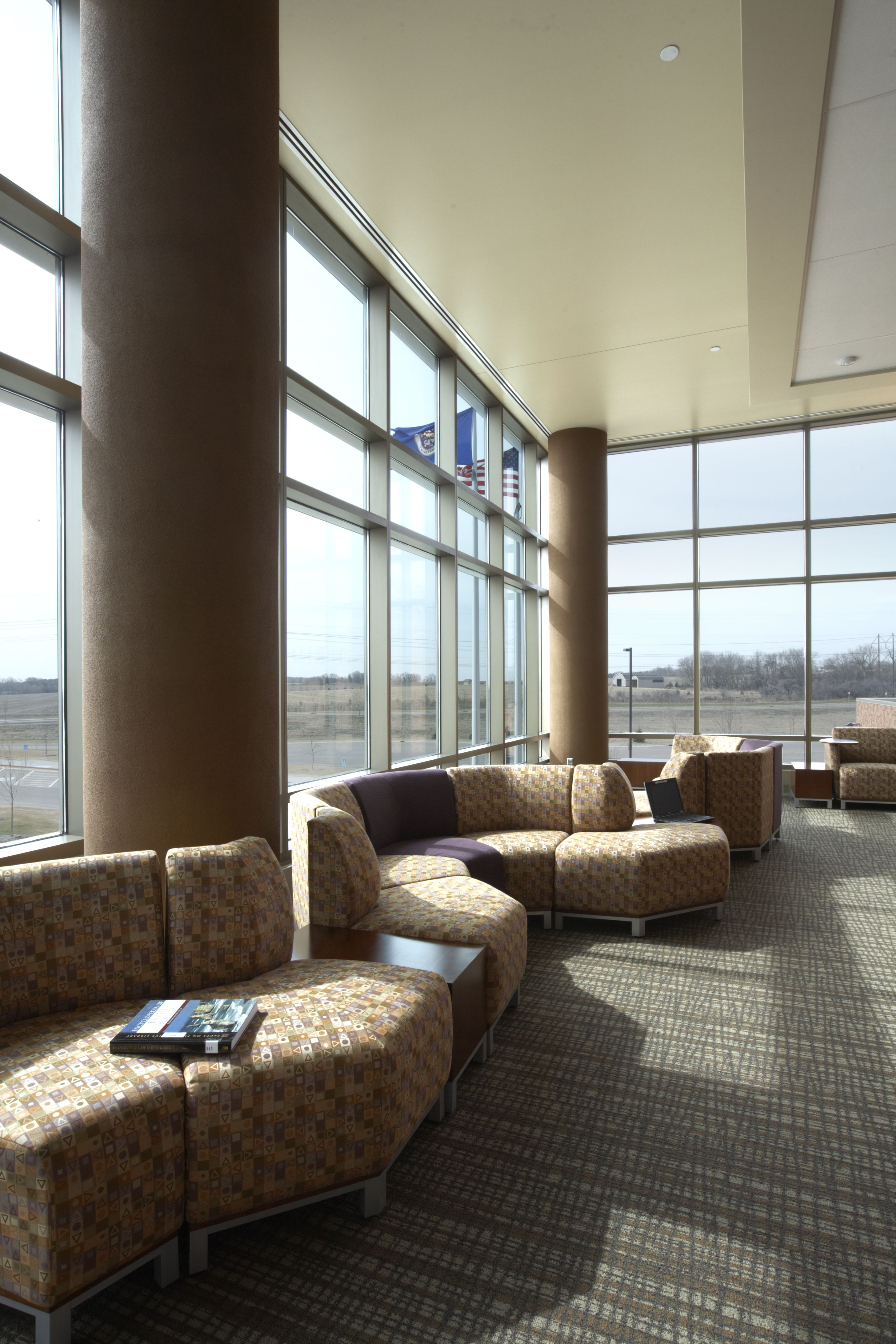 East Ridge High School Woodbury MN Swift Lounge Seating In Lobby Reception