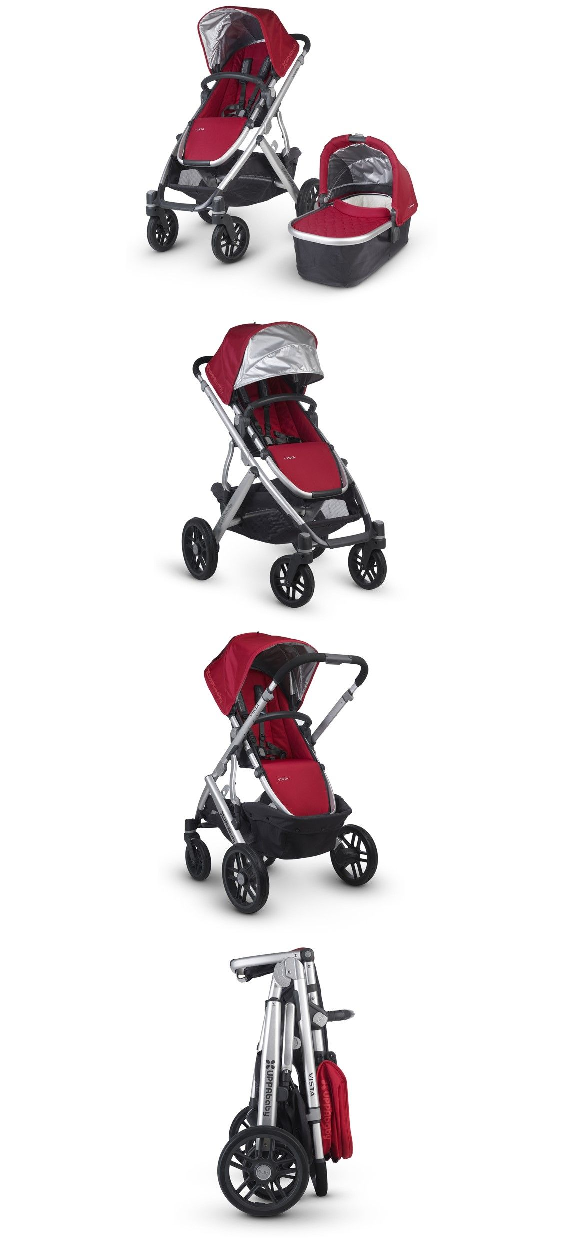 UPPAbaby Vista 2015 with Carrycot Denny Red. Building on