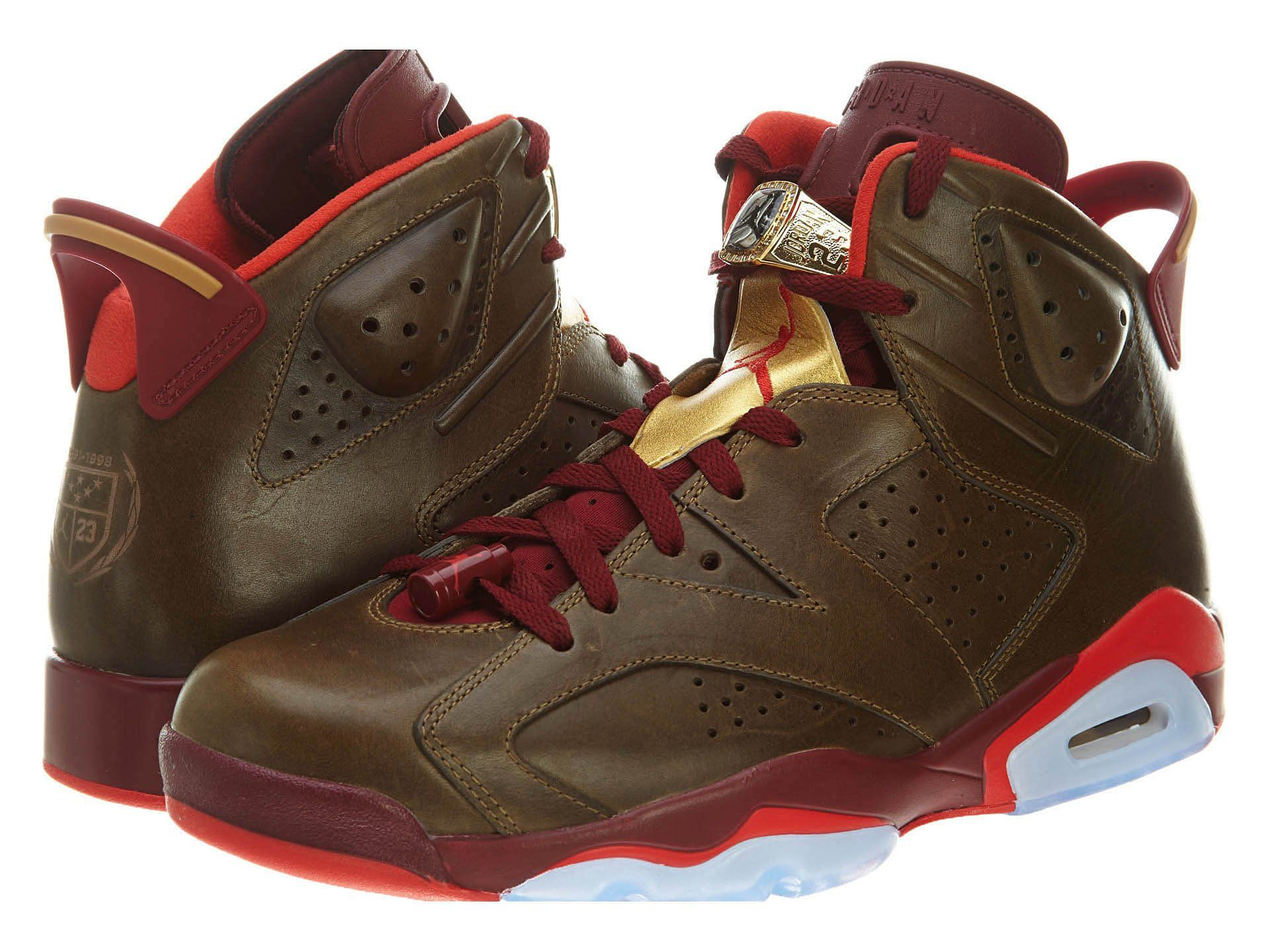 Amazon.com: Jordan Mens Air Jordan 6 Retro Leather basketball-shoes: Shoes