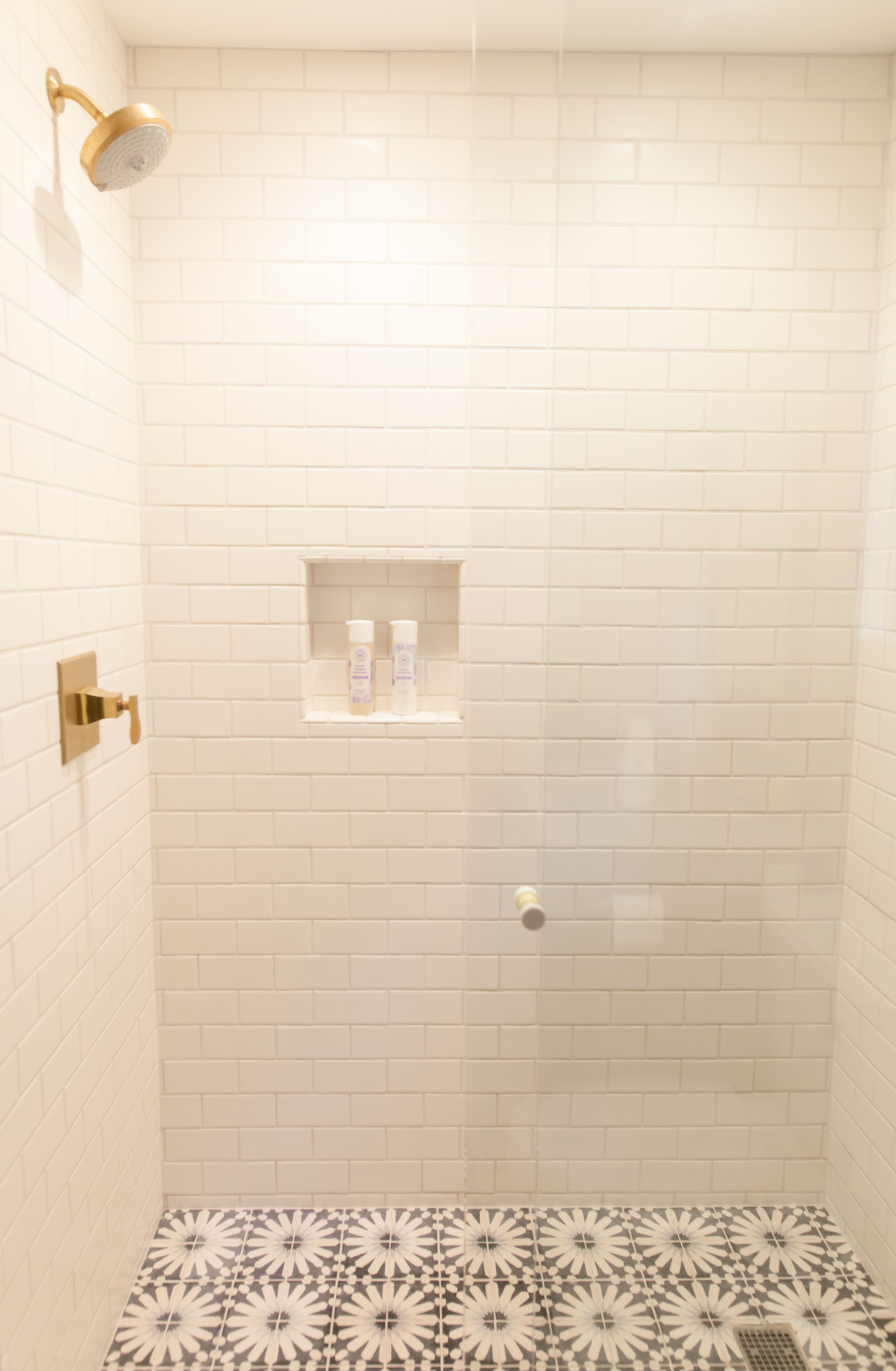 correct part a of how your shower tiled to for placement niche recessed build