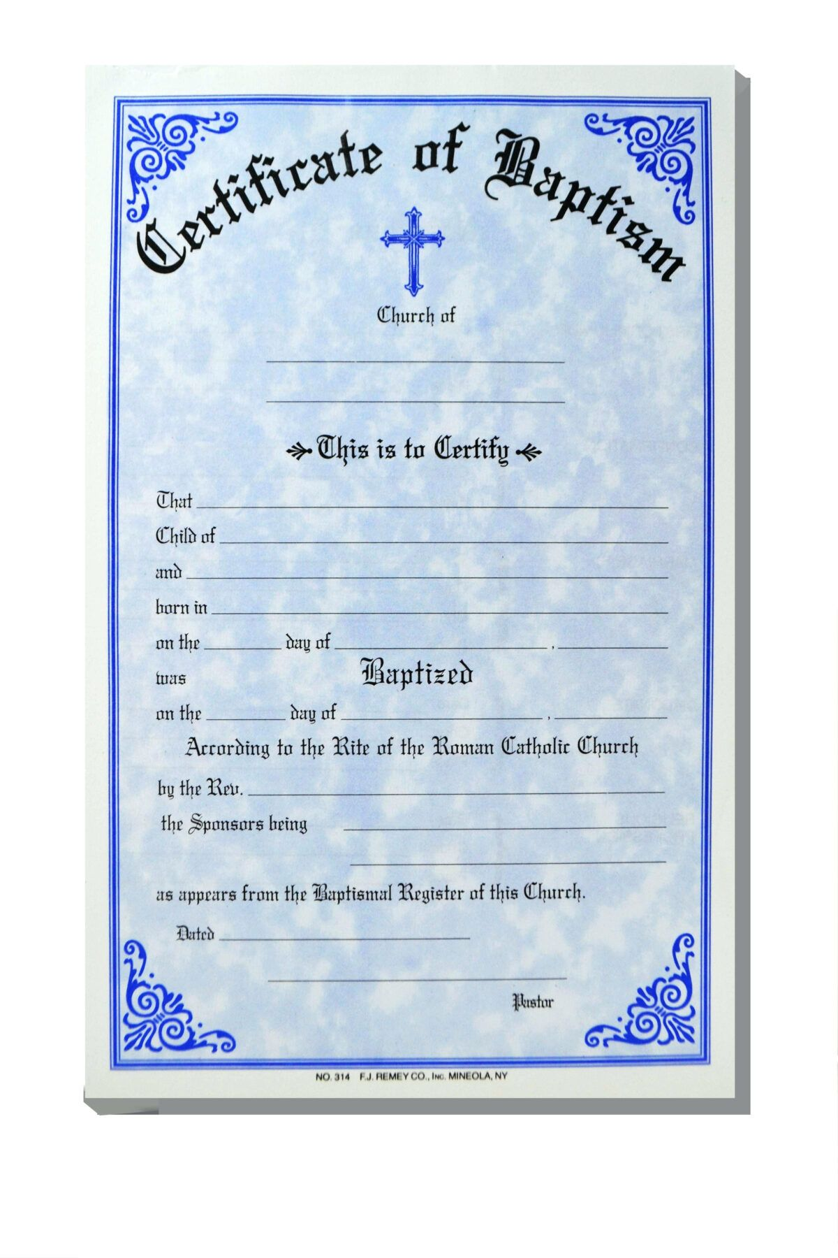 Pin On Popular Professional Template Certificate of baptism word template