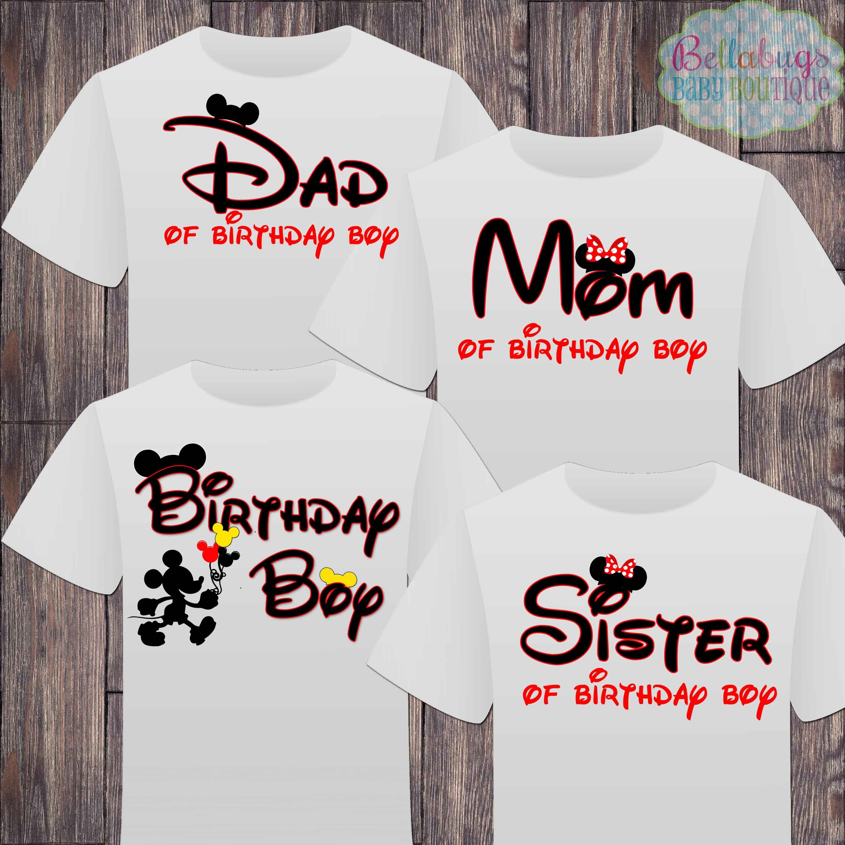 Matching Disney Family Birthday Boy Tshirts