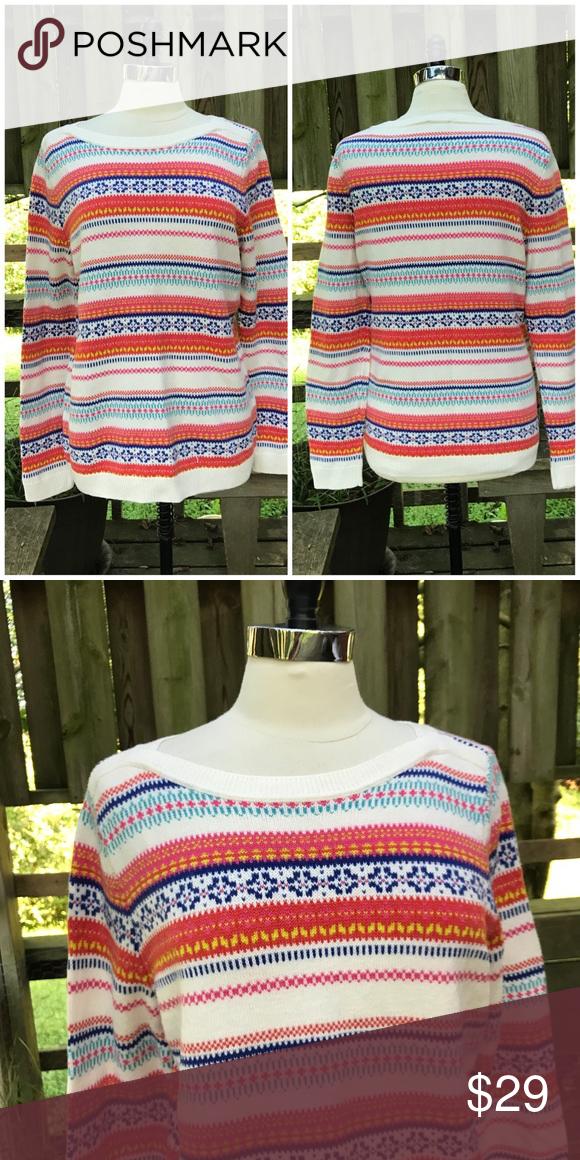 Talbots fair isle striped pullover sweater   Talbots, Fair isles ...