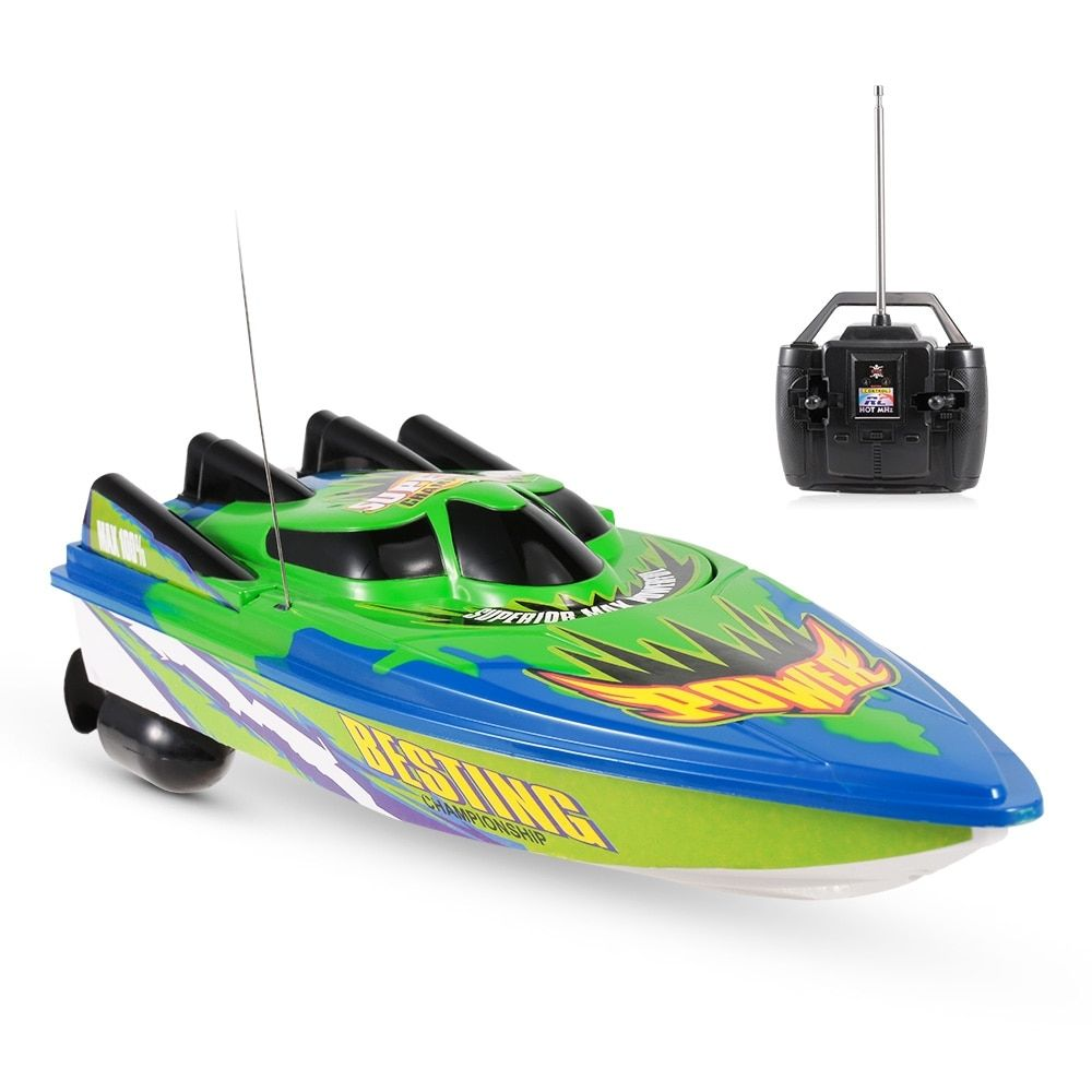 Waterproof Sealing Design 2.4GHz RC Racing Boat High Speed 25km//h Remote Control