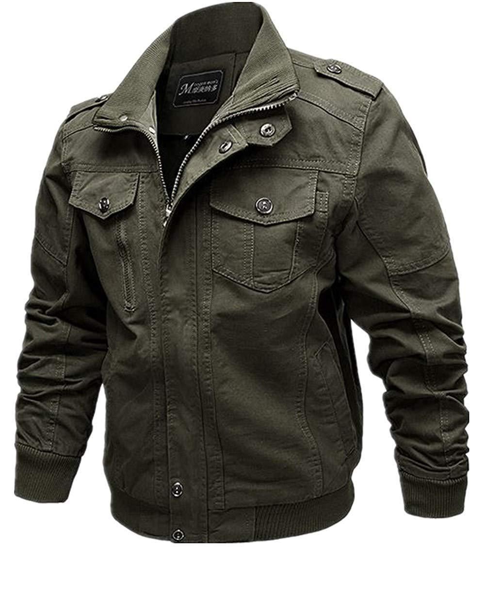 b1aa052da7 Sansberia Men's Casual Winter Cotton Military Jackets Outdoor Coat  Windproof Windbreaker