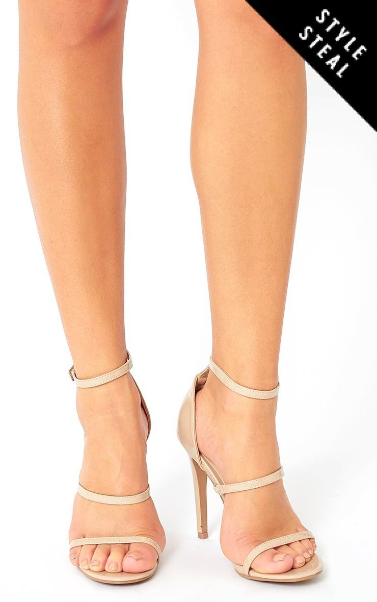 fe5549ad0d0 Amelia Nude Patent Strappy Heeled Sandals
