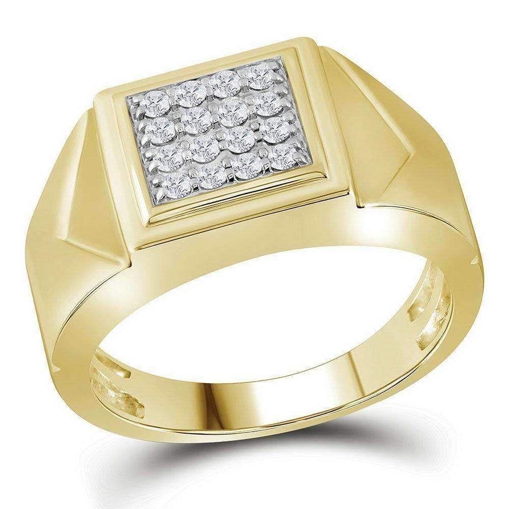 Diamond Wedding Band in 10K White Gold G-H,I2-I3 1//8 cttw, Size-5