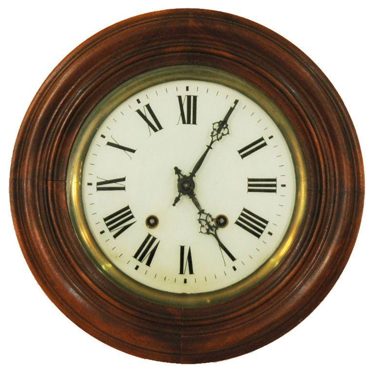 English 19th Century Round Wall Clock Wall Clock Round Wall Clocks Clock