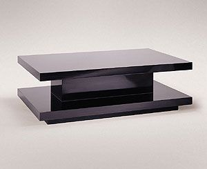MODERNE LOW TABLE Materials Wood Frame Macassar Ebony Veneer - 17 inch high coffee table