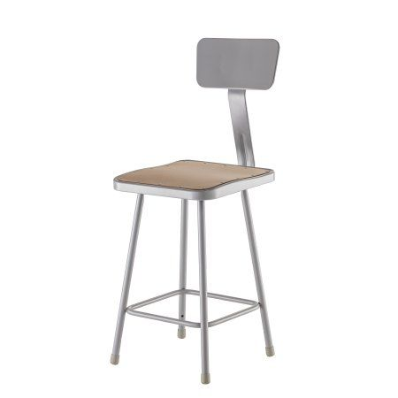 Pleasing Npsa 24 Inch Heavy Duty Square Seat Steel Stool With Caraccident5 Cool Chair Designs And Ideas Caraccident5Info