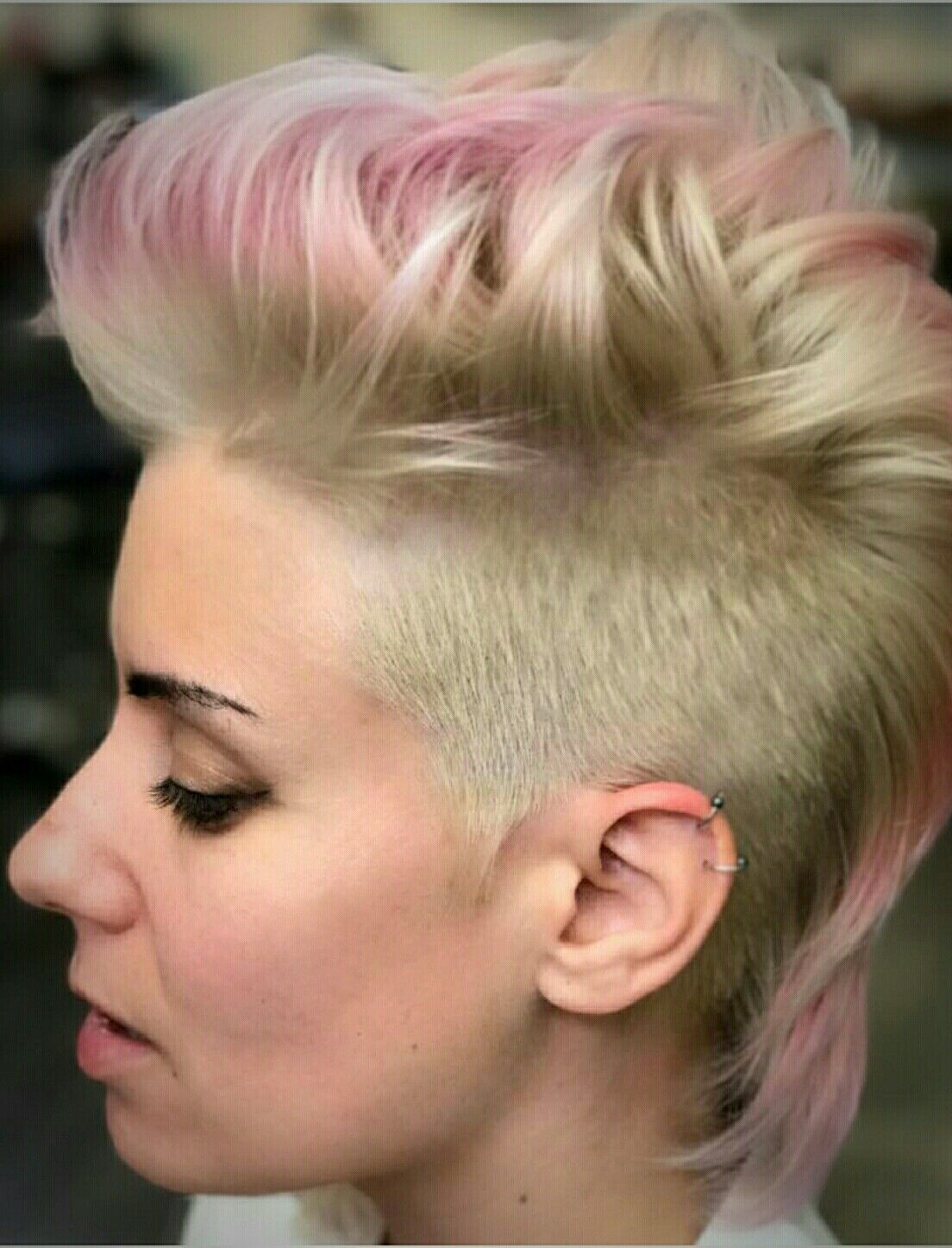 Opal hair baby pink short hair ombre hair sexy mohawks for women