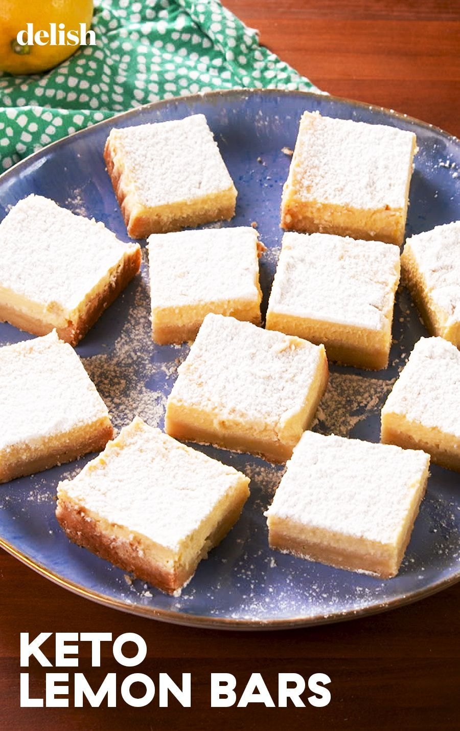 These easy lemon bars are 100% keto-friendly. Get the recipe at .