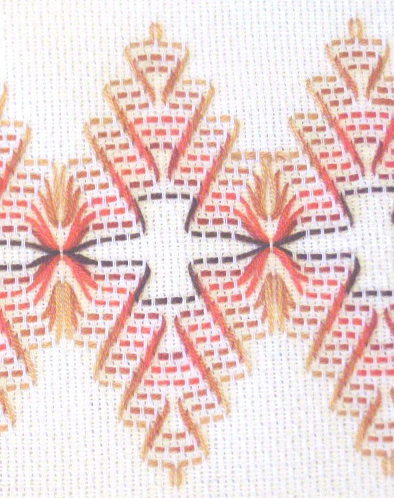 Huck Embroidery Detail | Swedish Weave | Pinterest | Bordado, Puntos ...