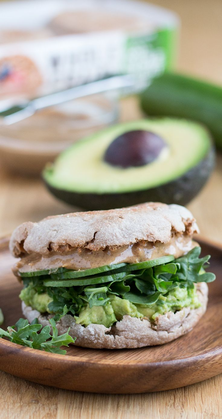 Vegan Sandwich Get Your Whole Grains In When You Use A Thomas 100 Whole Wheat English Muffin To San Sandwiches Warm Weather Recipes English Muffin Breakfast