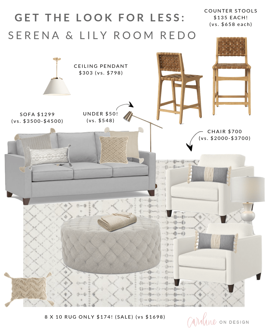 Photo of Serena & Lily Look for Less: Family Room Redo | Caroline on Design