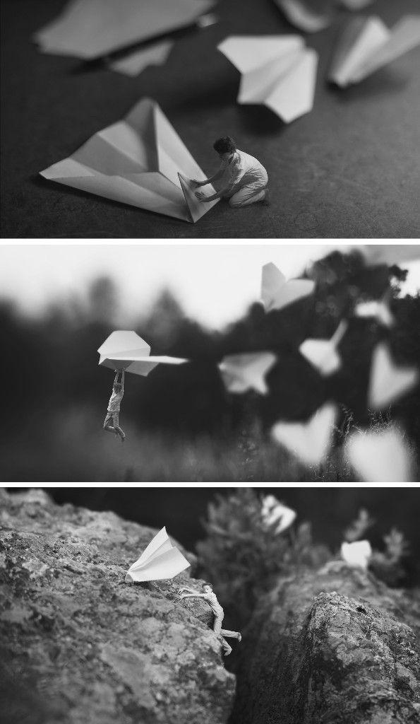 """Zev de Natick, mejor conocido como """"Fiddleoak"""", ha tomado fotografías en las que se aprecia la figura humana en miniatura."""