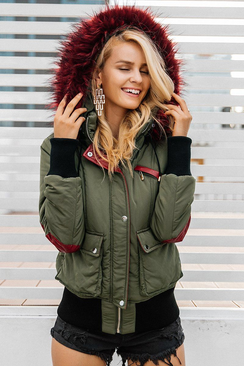 deceac68caf A cold-weather parka in a feminine A-line silhouette gets a double dose of  coziness from an overlay of faux shearling to warm the neck and a lush ring  of ...