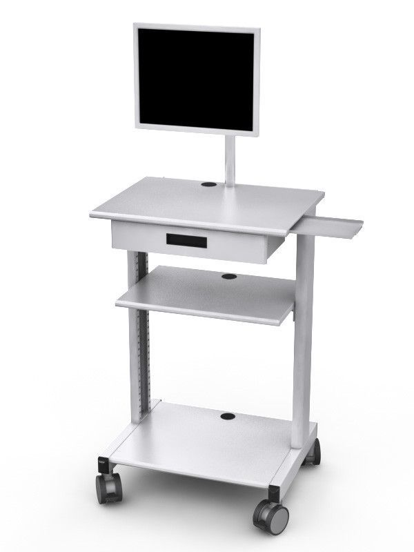 Metal Medical Equipment AV Cart With Storage Drawer And Adjustable Shelf |  Medical Cart | Pinterest | Medical Equipment