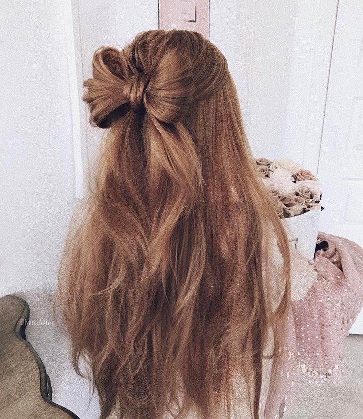 cute hair bow style inspire