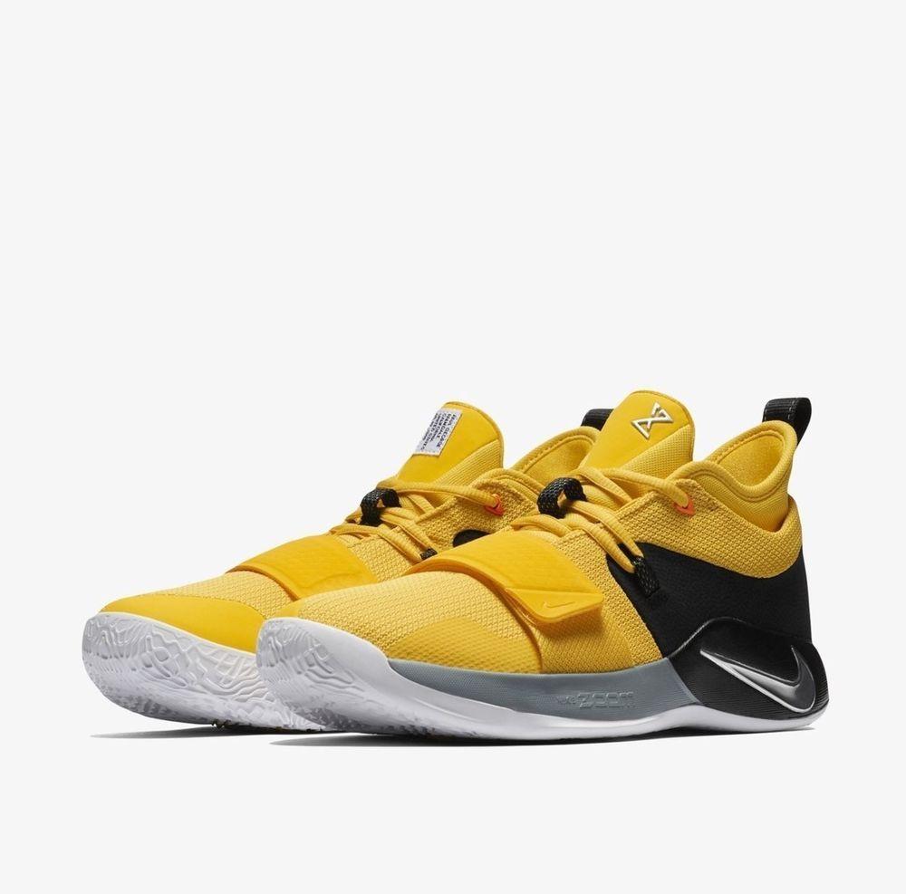 15d9c5fbcad6 Nike PG 2.5 Mens Basketball Shoes 8.5 Amarillo Chrome Black  Nike   BasketballShoes