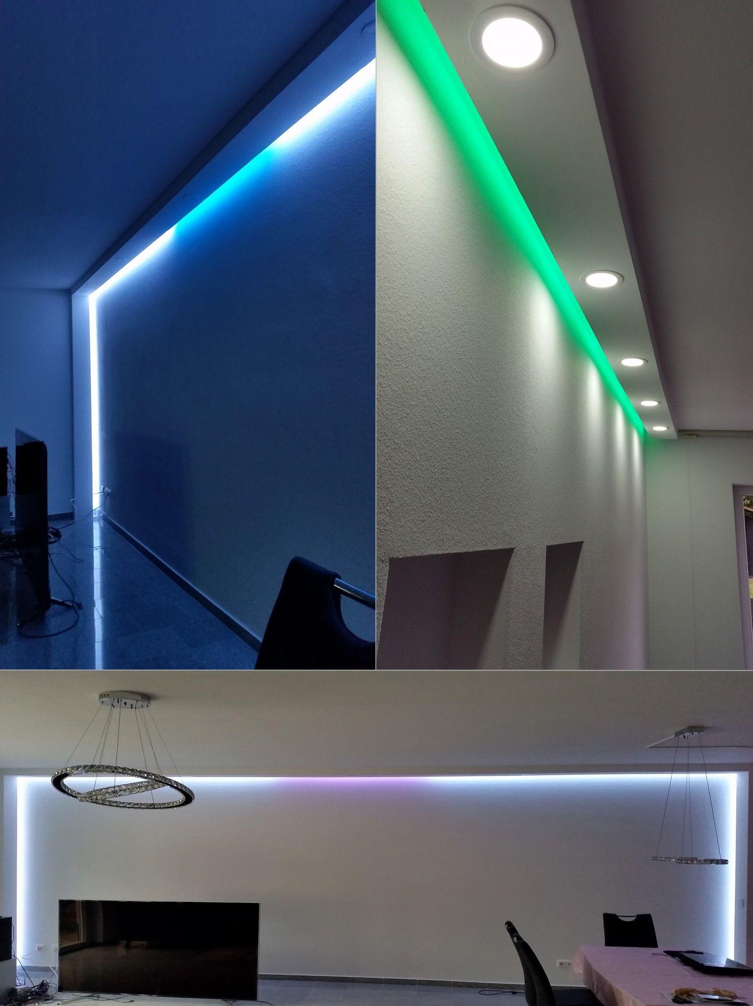 Einfache Dekoration Und Mobel Raeume Mit Licht Gestalten Led Sei Dank #18: 10 Meter PU Spots Kasten LED Leuchten Stuck Deckenprofil Stoßfest 80x200 LED-11  007