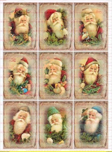 Spielzeug 1689 Bügelbild Santa Claus Weihnachten Christmas Merry Vintage A4 No