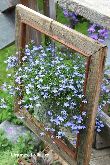 Junk Garden Vignettes in the Corner of the Deck