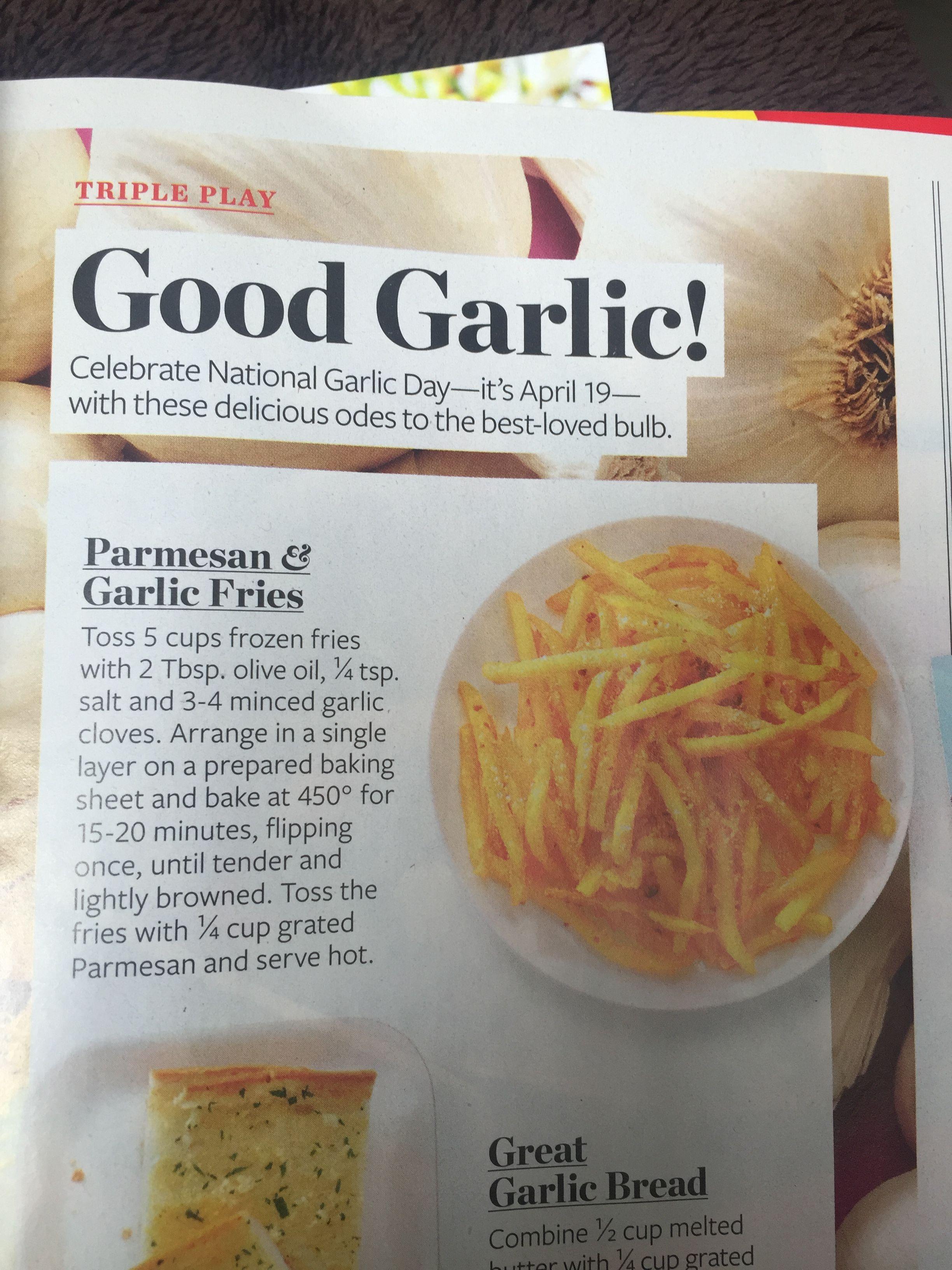 Parmesan & garlic baked fries.