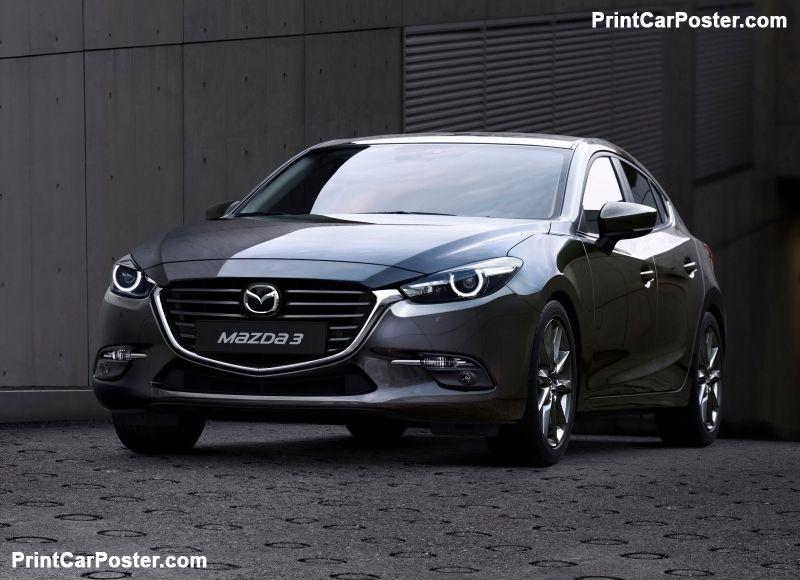 Mazda 3 Sedan 2017 poster Mazda 3 sedan, Mazda, Mazda 3