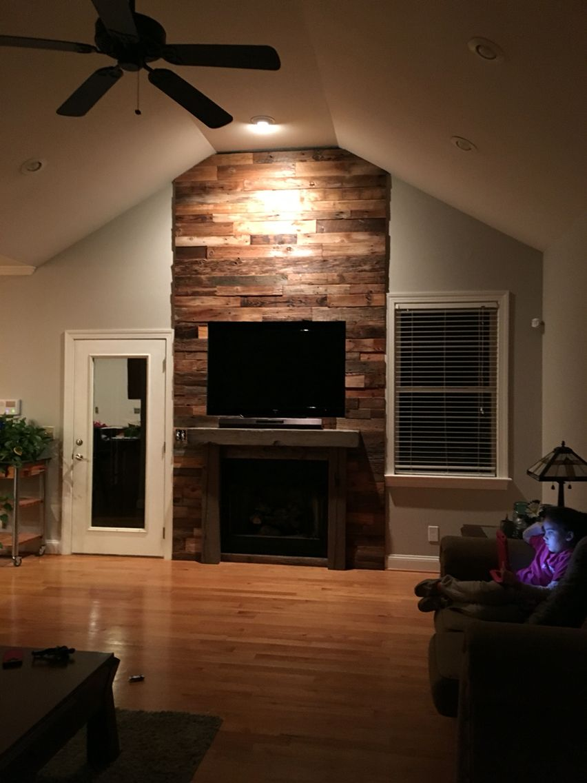 reclaimed barnwood fireplace barnwood crafts pinterest
