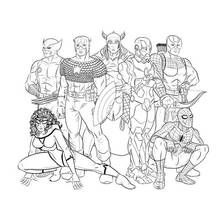 dessin colorier avengers super hros 72 coloriages imprimer