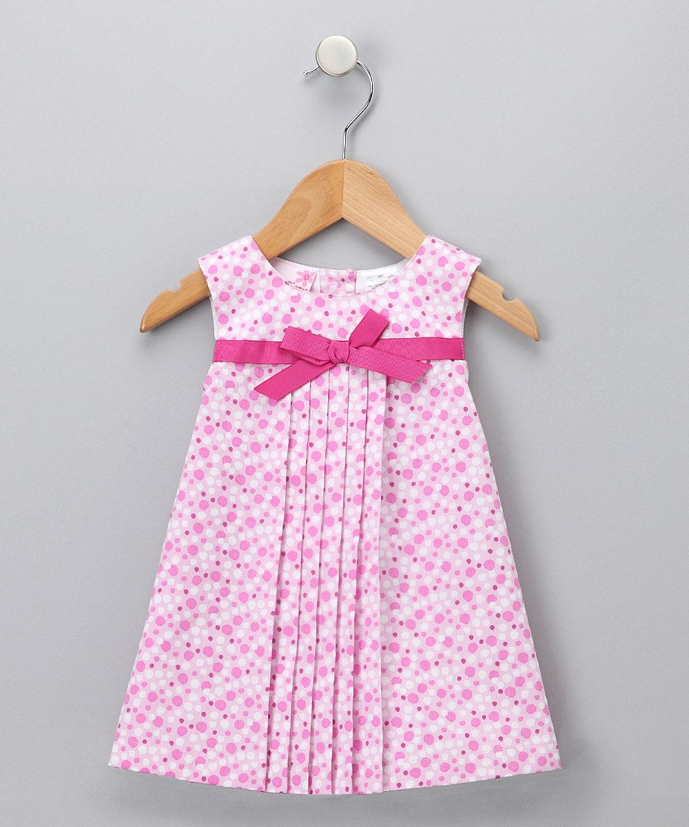 3279a69e2 Pink Dot Pleated Dress - Toddler | Baby frocks & bands | Toddler ...
