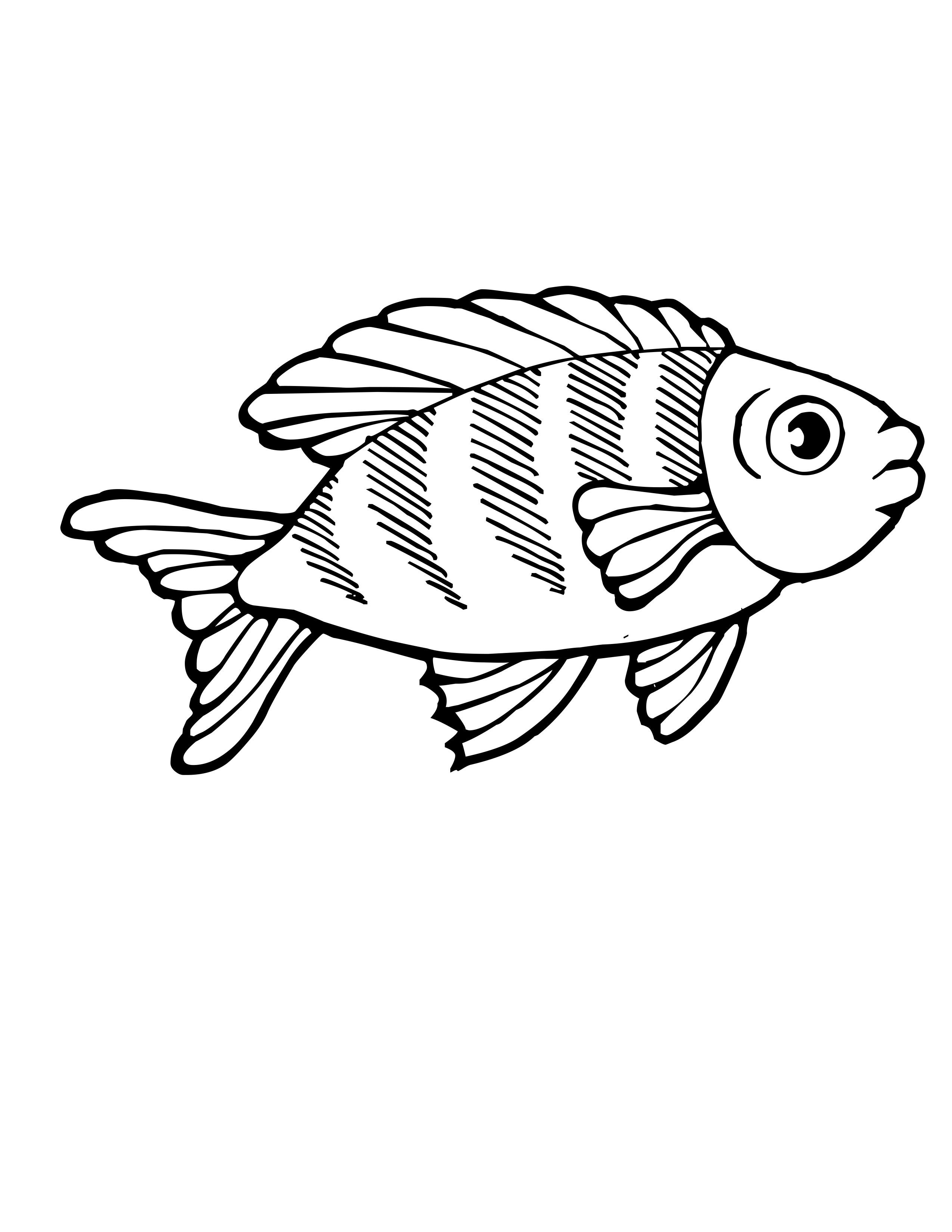 Coloring Fish Pages Saltwater 2020 Fish Coloring Page