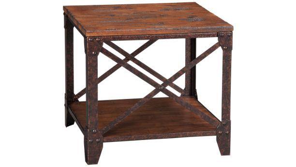 Magnussen Home Pinebrook Pinebrook End Table Jordan S Furniture Furniture Rustic End Tables End Tables