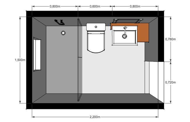 Dise o y distribuci n de ba os despu s bathroom ideas - Distribucion bano pequeno ...