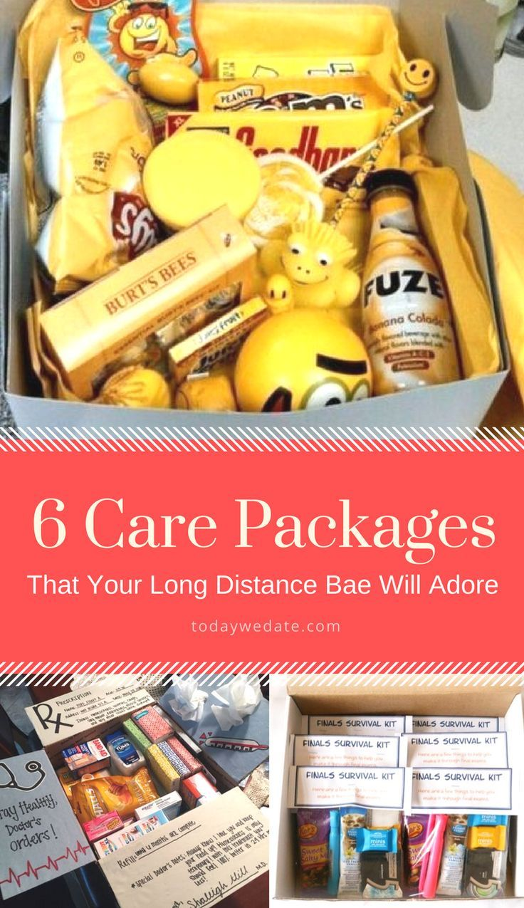Care package ideas. Long distance relationship gift ideas