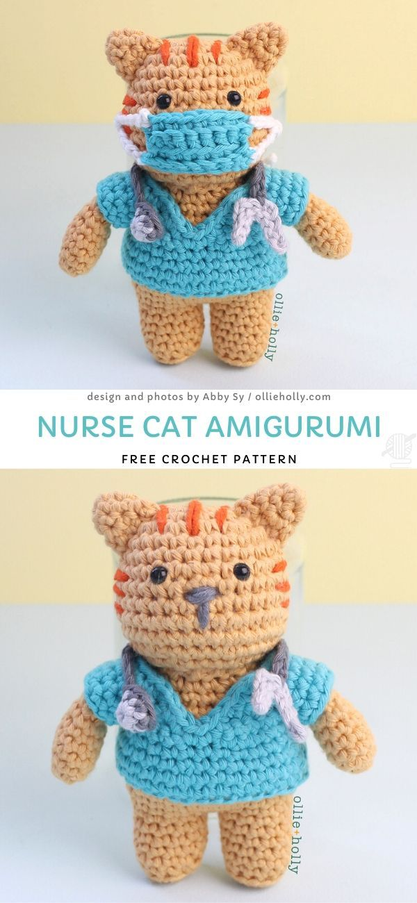 Nurse Cat Amigurumi Crochet Pattern