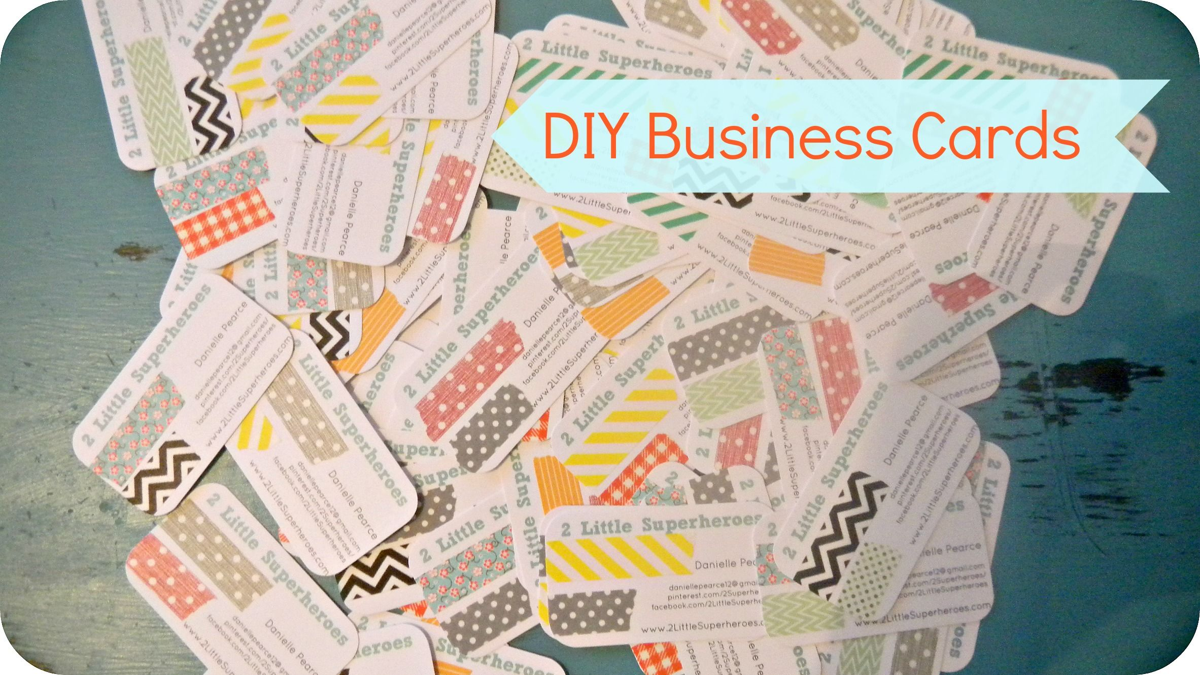 Simple homemade blog business cards. Printed for $3.95 and then ...