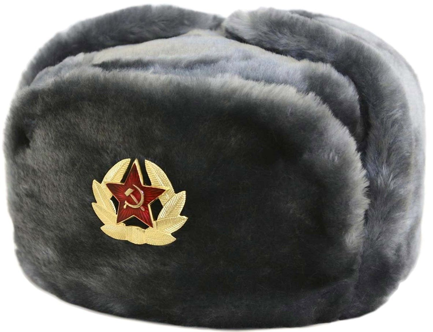 b5264d7ba74 Hat Russian Soviet Army Air force Fur Military Ushanka   GR   Size L -  CR1161TE44J - Hats   Caps
