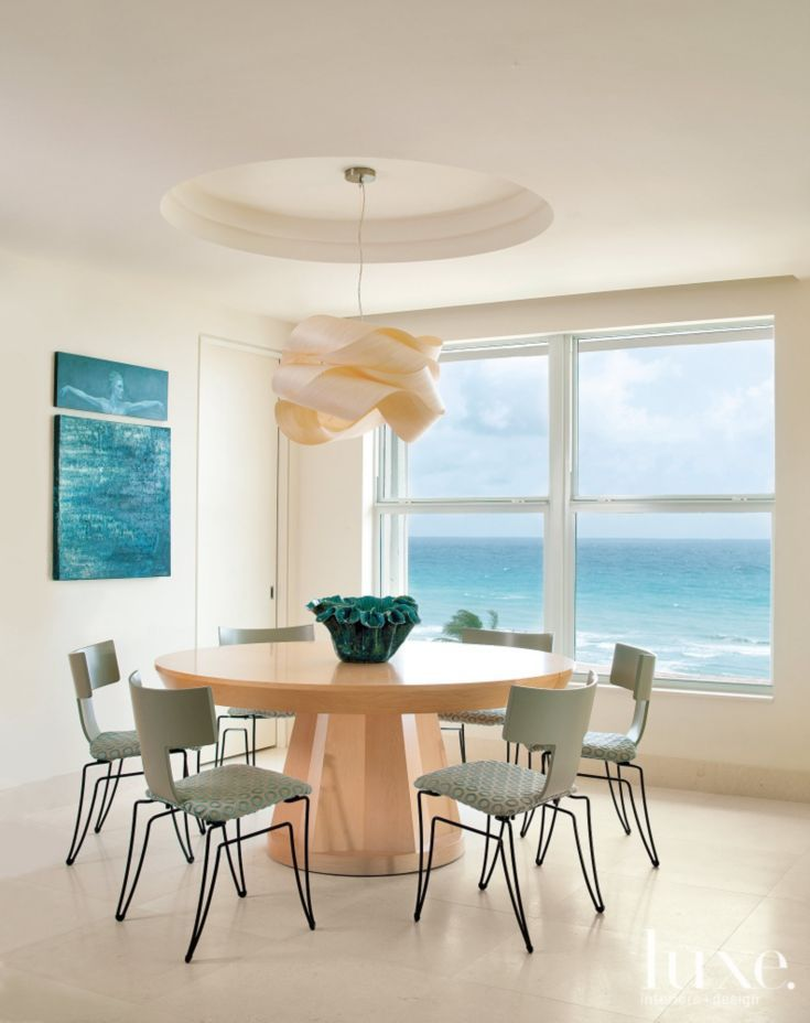 A Light Filled Oceanside Condo With Sea Inspired Hues