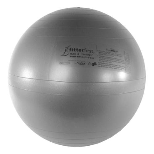 Fitterfirst Classic Exercise Ball Chair 30 Silver ** Click