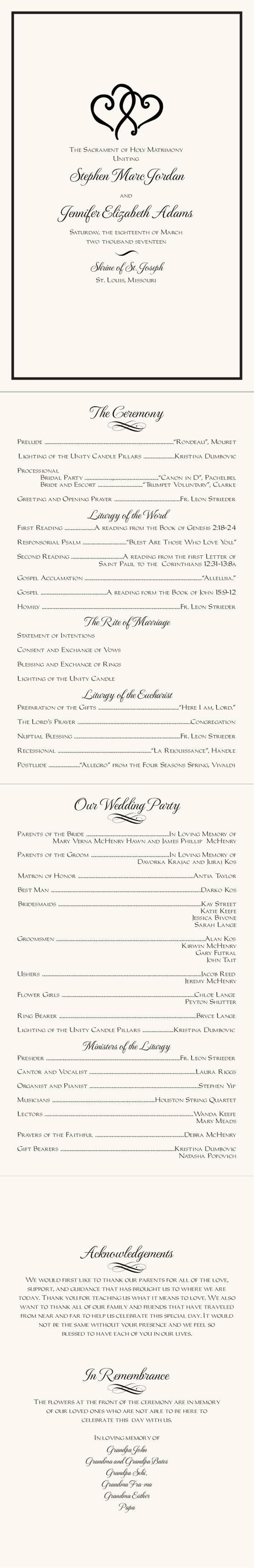 linked hearts contemporary and classic wedding programs wedding