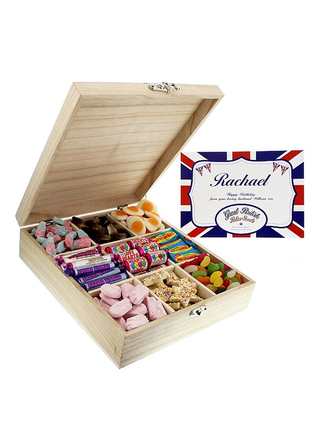 Personalised Retro Sweet Box Sweet box, Drink gift