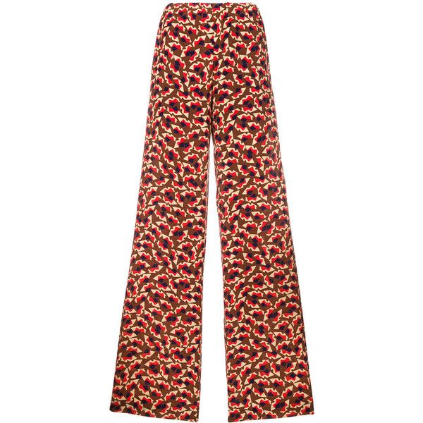 Wide legged printed trousers - Multicolour Marni mOCCMy