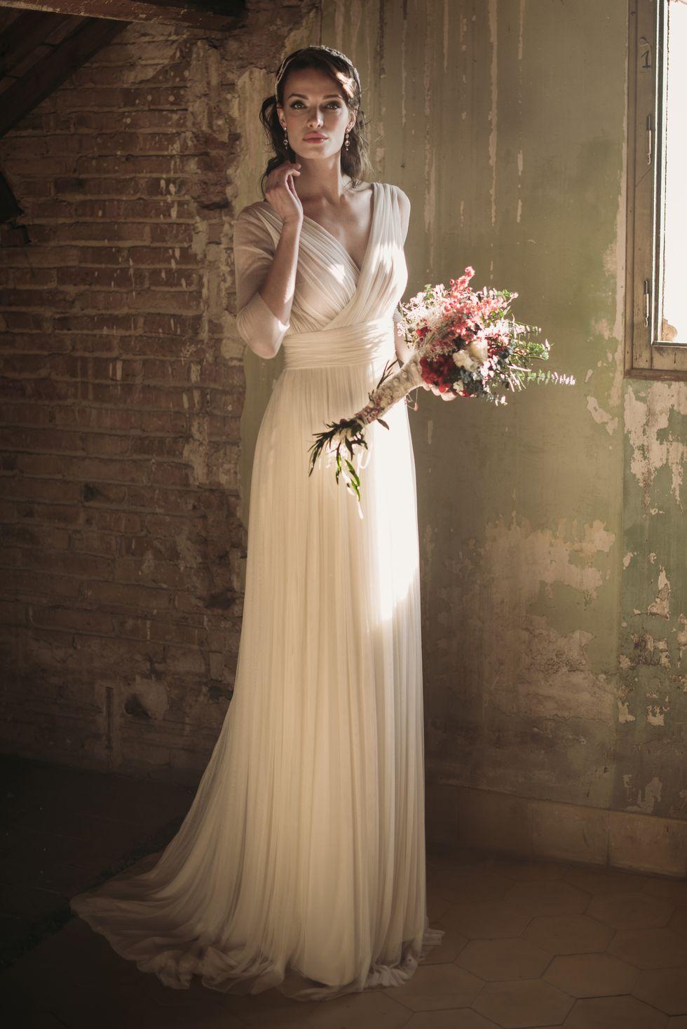 El vestido de novia Tamara de José María Peiró se caracteriza por su ...
