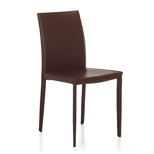 Chaise En Croute De Cuir Marron Andrew Chaises Tables Chaises Salon Salle A Manger Par Piece Decora Meuble Deco Mobilier De Salon Decoration Interieure