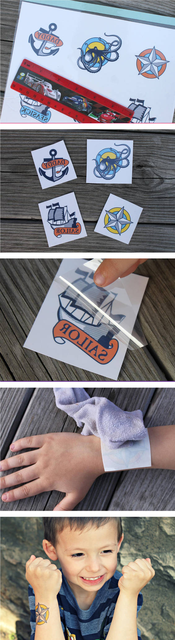 Design your own temporary tattoos!