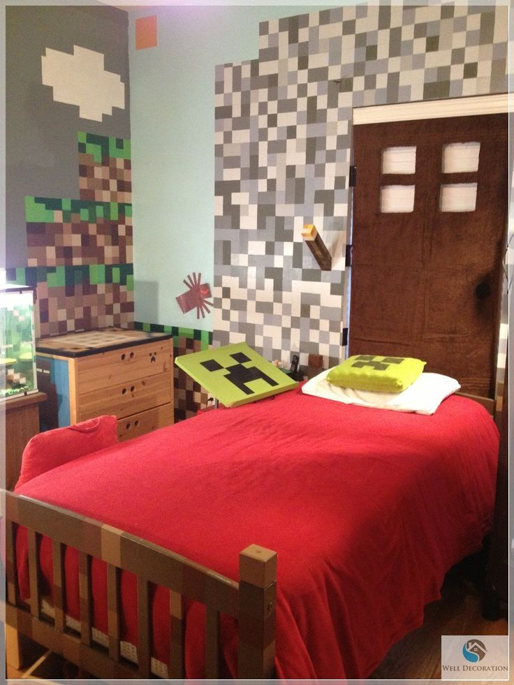 Decorating Your Kid S Room With A Minecraft Theme Minecraft Bedroom Decor Minecraft Bedroom Perfect Bedroom